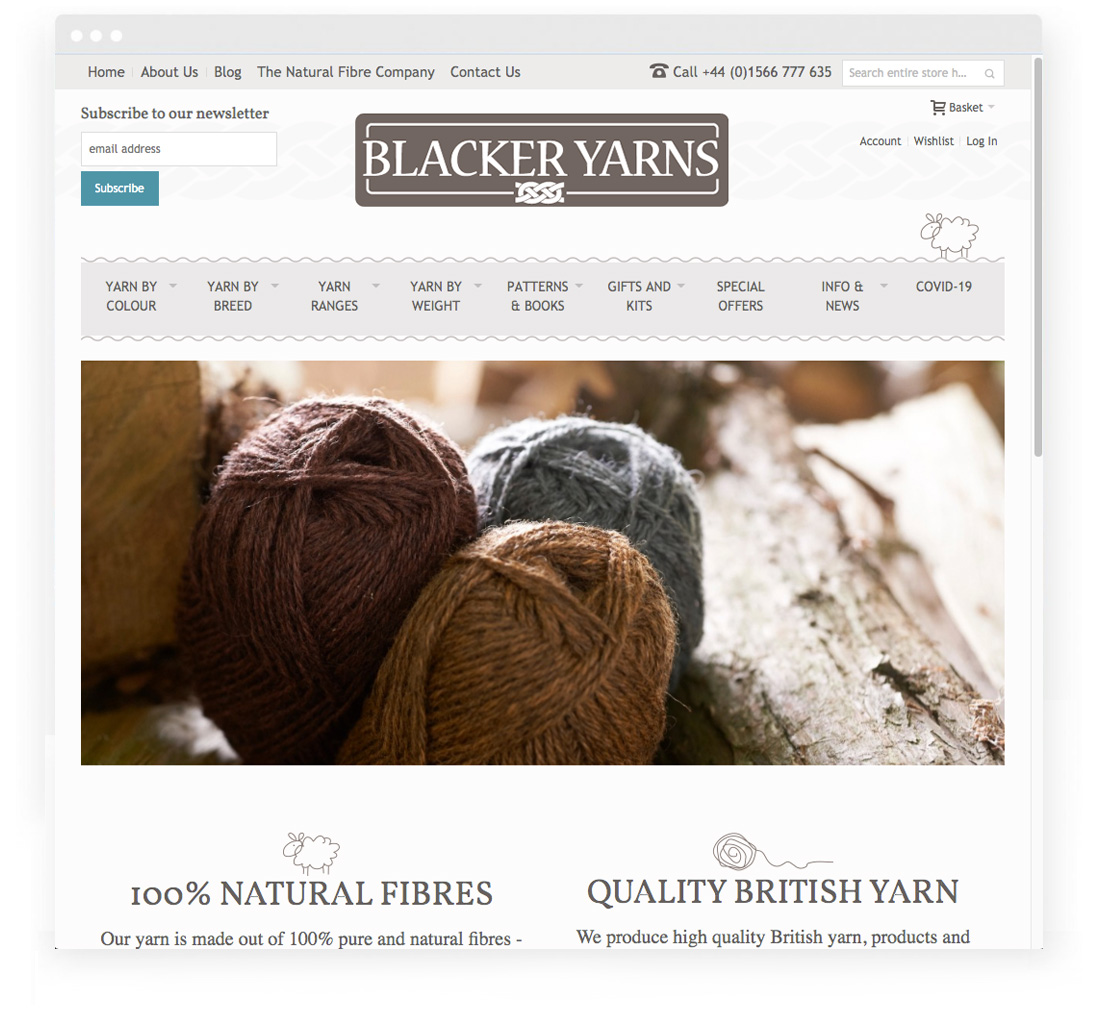 Blacker Yarns screenshot