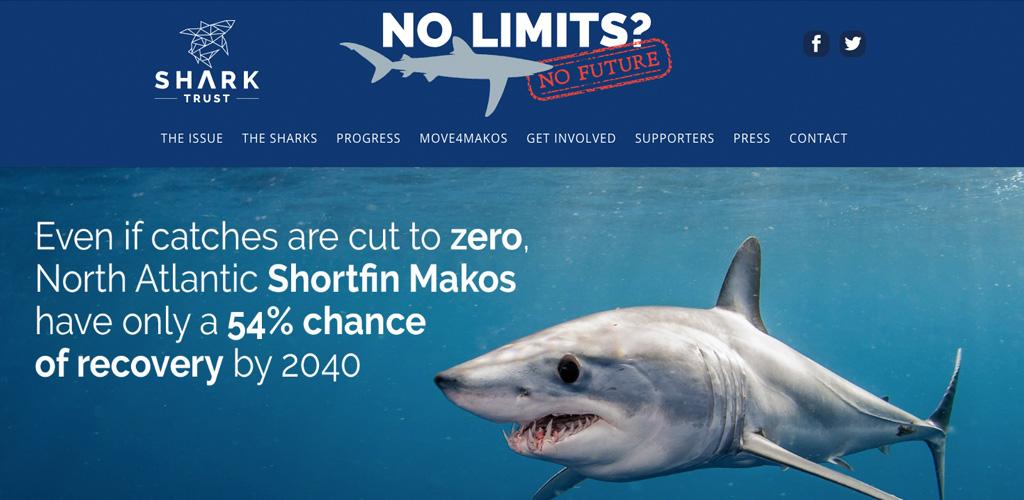 WordPress website for Shark Trust 'No Limits' campaign