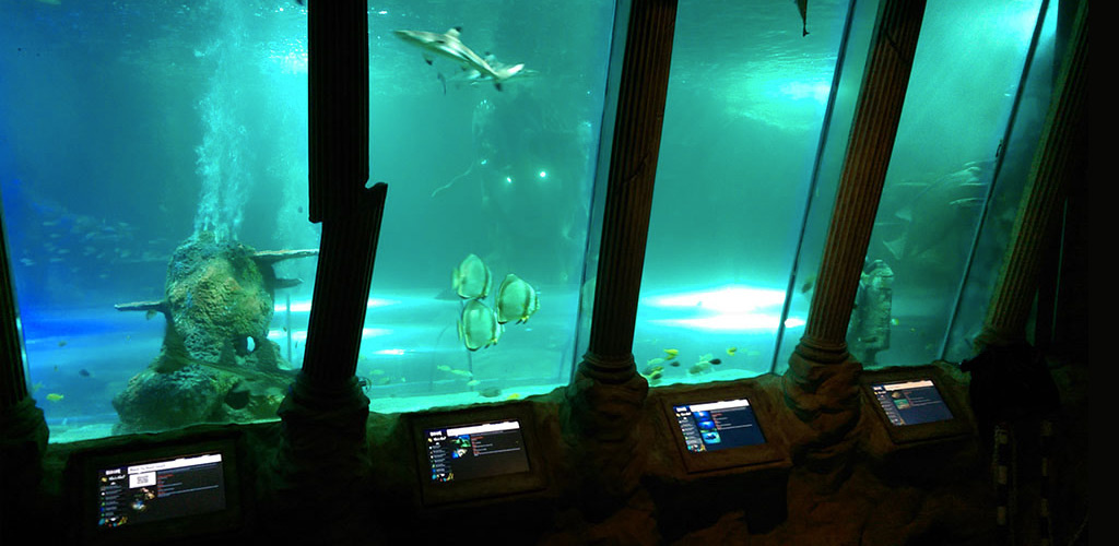 Picture of touch screens installed by tank