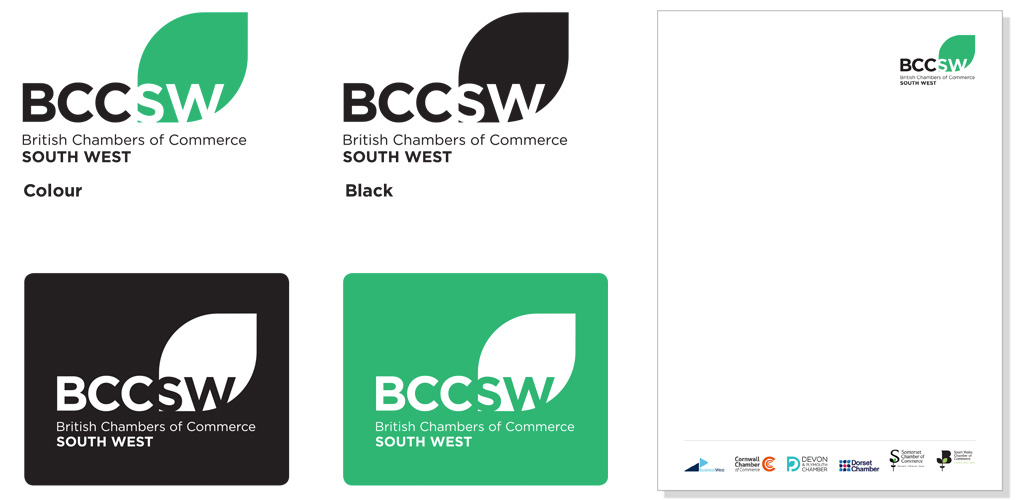 Logo and stationary design for British Chambers of Commerce South West