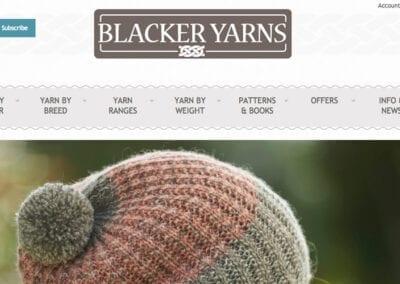 Blacker Yarns website design