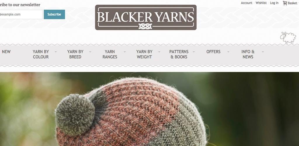 Magento eCommerce website for Blacker Yarns