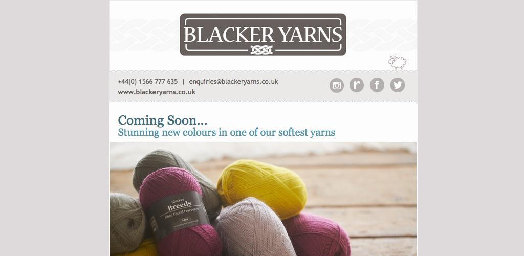 Blacker Yarns Mailchimp design