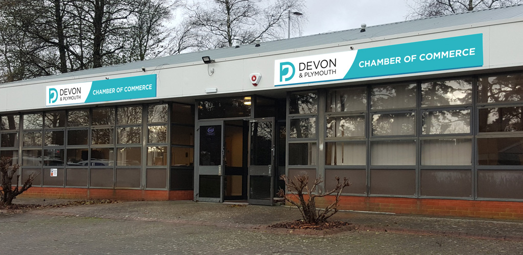 Signage for Devon & Plymouth Chamber of Commerce