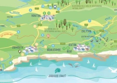 Map illustration of East Devon