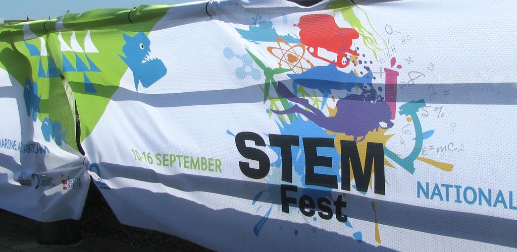 StemFest logo on banner