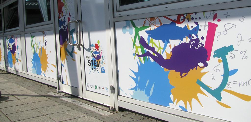 StemFest logo on building