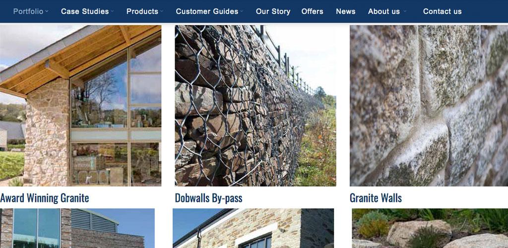 Lantoom Quarry portfolio section