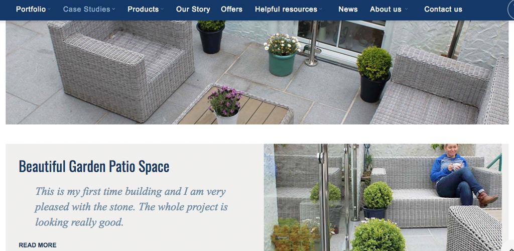 Lantoom Quarry website homepage